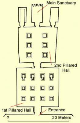 Floor Plan for the Temple of Derr