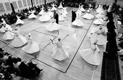 Though clearly not the Dervish Theater, a group of traditional Sufi Whirling Dervish