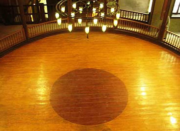 The performance floor of the theater