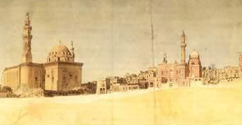 Nicolas Jacques Conte, Cairo, view of Sultan Hasan's mosque, 1798-1801