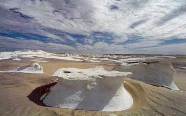 White Desert near Bahariya Oasis in Egypt