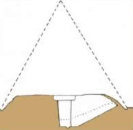 A projection of the size of the original Pyramid of Djedefre at Abu Rawash in Egypt