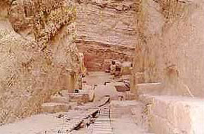 The central shaft in the Pyramid of Djedefre at Abu Rawash in Egypt