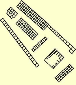 Floorplan of the Tomb Z at  Abydos belonging to King Djet (Wadji)