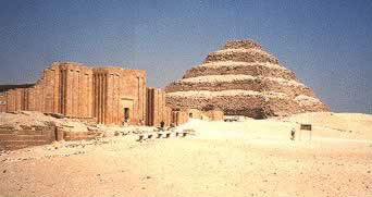 Pyramids of Egypt - Step  Pyramid of Djoser at Saqqara in Egypt