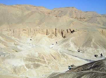 Looking down on the Valley of the Kings