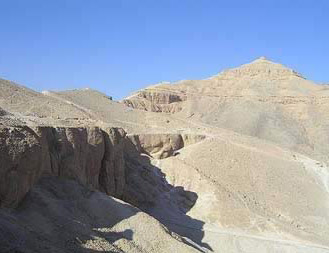 A view of the well known peak on the west bank at Luxor