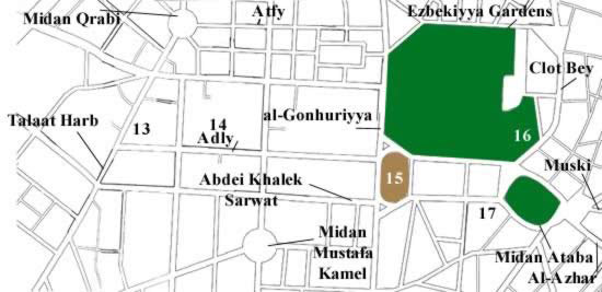 Map (3) of Downtown Cairo