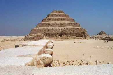 Vew of the Step Pyramid of Djoser at Saqqara in Egypt - Photo by Diaa Kialil
