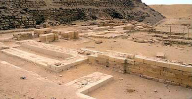 View of the Remains of the Mortuary Temple of the Step Pyramid Complex of Djoser at Saqqara