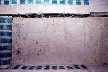 A chamber with bluish green faience within the South Tomb of the Djoser Complex at Saqqara