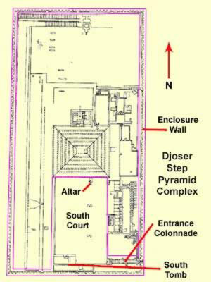 Plan of the Djoser Step Pyramid Complex
