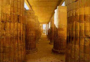 Within the Entry Colonnade of the Djoser Step Pyramid Complex