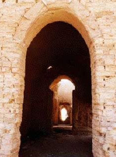 A view within the fortress at Dush in Egypt