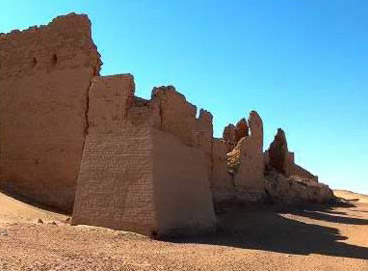 Another view of the ancient fortress at Dush in Egypt