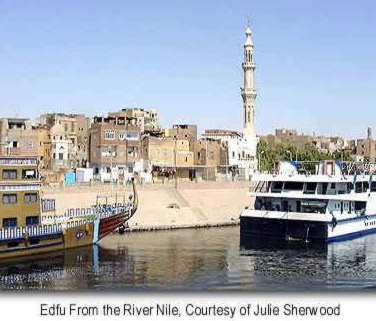 edfu from the river nil