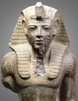 Merenptah, along with his father, Ramesses II, or both often given credit as being the Pharaoh of the Biblical Exodus