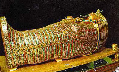 Second coffin of Tutankhamun