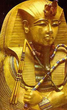 Egyptian Museum: Solid Gold Coffin