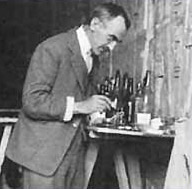 Alfred Lucas   working in the Tomb of Tutankhamun