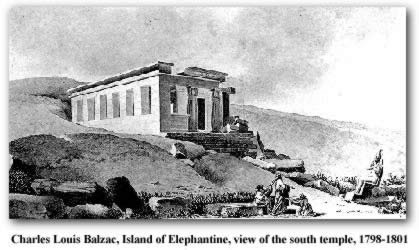 Charles Louis Balzac, Island of Elephantine, view of the south temple