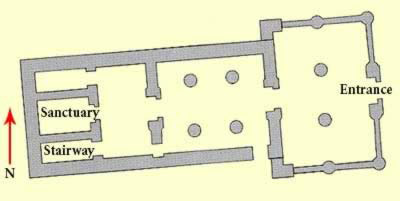Plan of the Deir al-Hagar Temple in Egypt