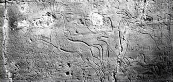 Ramesses II Charging Nubians, South Wall, Forecourt of Temple