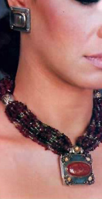 An Azza Fahmy creation with beads and precious stones