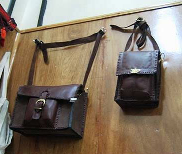 Leather bags at the Fair Trade Center