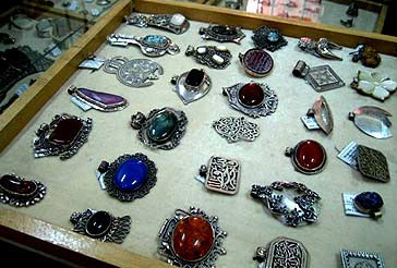 Silver items in the Fair Trade Center