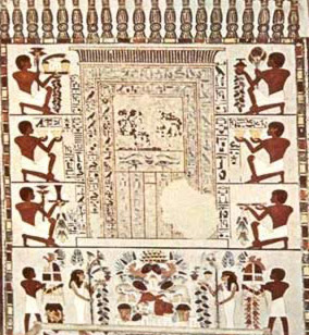 A Painted False Door From The Tomb Cahel Of Nakht In Western Thebes