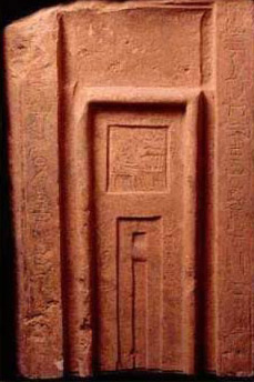 Charming False Door Of Fefi Of The Late Old Kingdom