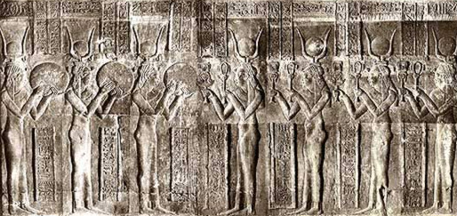 The Seven Hathors from Dendera