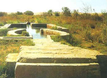 A spring in Fayoum, Egypt