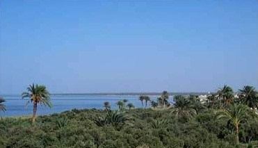 A view of the modern lake in Egypt's Fayoum