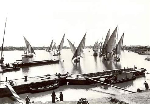 Feluccas on the Nile (Circa 1924)
