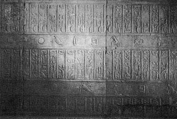 An ancient Egyptian festival calendar