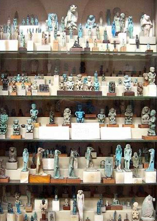 A Multitude of Godly Figurines in the Egyptian Museum