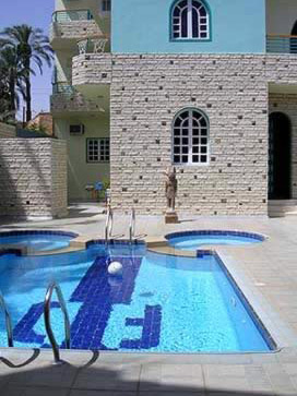The Swimming pool of Flats in Egypt