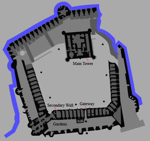 Floor Plan of Fort Qaitbey in Alexandria, Egypt