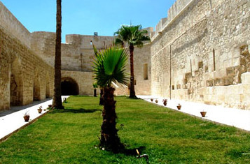 The gardens between the inner and outer walls fo the fortress