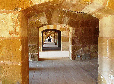 The coastal passage within the fort, so named because it leads to the outer walls and the canon installations