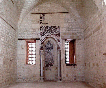 The Qibla Iwan and the Mihrab in the mosque of the fortress