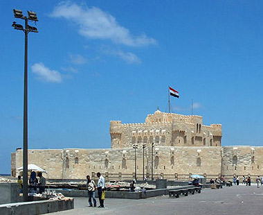An overview of Fort Qaitbey in Alexandria, Egypt