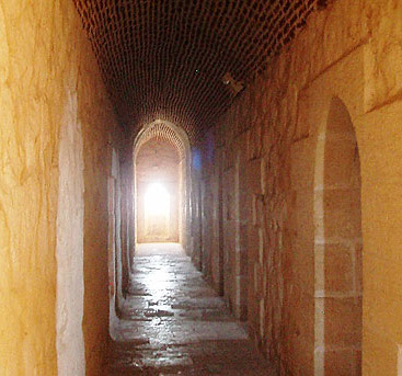 The narrow corridors of the third floor