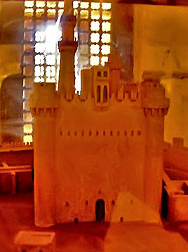 A Model showing how the fort must have appeared in the past