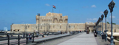 A view of Fort Qaitbey in Alexandria