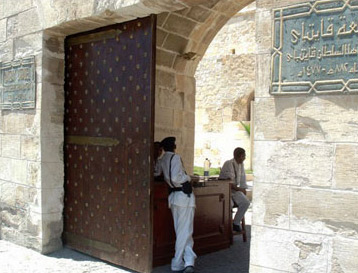 The entrance to Fort Qaitbey