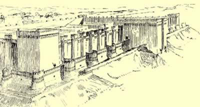 The fortification of Buhen in Nubia