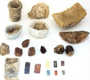 Items from a foundation deposit